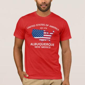 米国米国東部標準時刻。 1776年のアルバカーキニューメキシコ Tシャツ