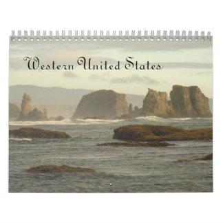 米国西部の2014のカレンダー カレンダー