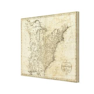 米国2の地図 キャンバスプリント