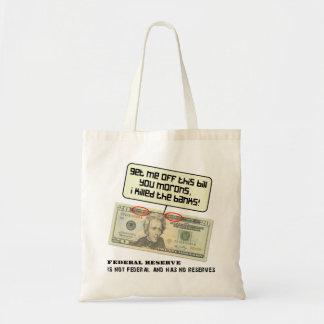 米国20のドル札の連邦準備制度 トートバッグ