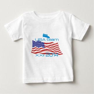 米国2014の冬季スポーツのボブスレー ベビーTシャツ