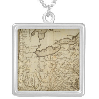 米国3の地図 シルバープレートネックレス