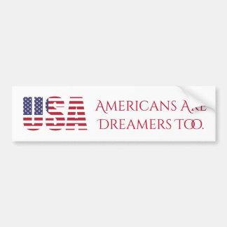 米国|のアメリカ人は政治夢みる人余りに|です バンパーステッカー