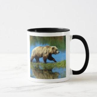米国、アラスカのKatmaiの国立公園、ハイイログマ2 マグカップ