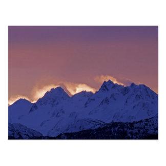 米国、アラスカ、ホーマー。 Kenai上の日の出 ポストカード