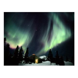 米国、アラスカ、Chena Hot Springs。 オーロラ ポストカード