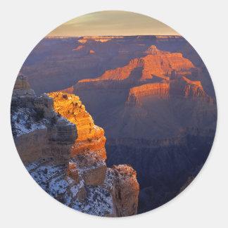 米国、アリゾナのグランドキャニオンの国立公園、冬 ラウンドシール