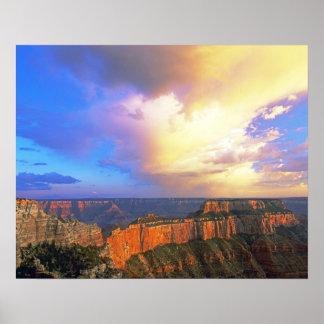 米国、アリゾナのグランドキャニオンの国立公園。 眺め ポスター