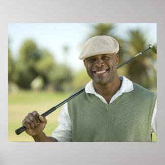 米国、アリゾナ、スコッツデールのゴルフの微笑の人 ポスター