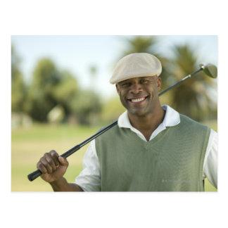 米国、アリゾナ、スコッツデールのゴルフの微笑の人 ポストカード