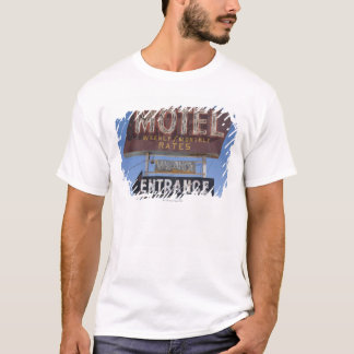 米国、アリゾナ、Winslowの旧式のモーテルの印 Tシャツ