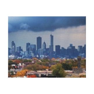 米国、イリノイ、シカゴの都市景観 キャンバスプリント