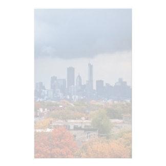 米国、イリノイ、シカゴの都市景観 便箋
