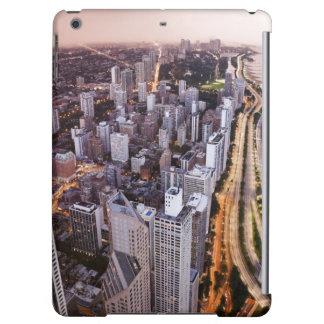 米国、イリノイ、シカゴ、湖の空中写真 iPad AIRケース