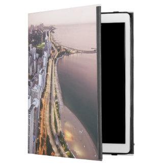 """米国、イリノイ、シカゴ、湖の空中写真 iPad PRO 12.9"""" ケース"""
