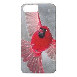 米国、インディアナ、インディアナポリス。 オスの(鳥)ショウジョウコウカンチョウ iPhone 8 PLUS/7 PLUSケース