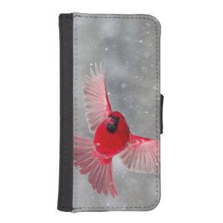 米国、インディアナ、インディアナポリス。 オスの(鳥)ショウジョウコウカンチョウ iPhoneSE/5/5sウォレットケース