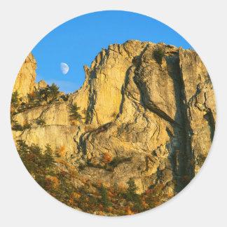 米国、ウェストヴァージニアの小ぎれいなノブセネカ人の石2 ラウンドシール