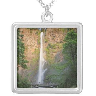 米国、オレゴンのコロンビア川の峡谷、Multnomah シルバープレートネックレス