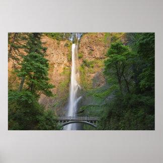 米国、オレゴンのコロンビア川の峡谷、Multnomah ポスター