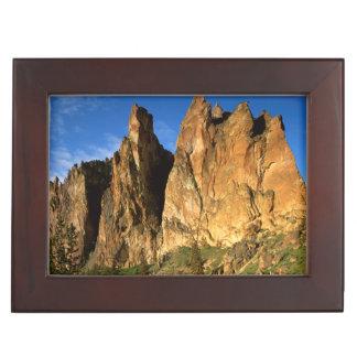 米国、オレゴンのスミス石の国家の花こう岩の崖 ジュエリーボックス