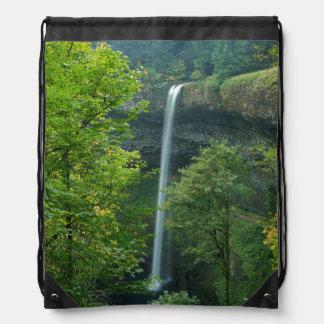 米国、オレゴンの銀製の滝の州立公園 ナップサック