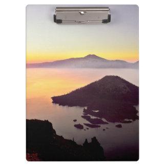 米国、オレゴンのcrater湖の国立公園3 クリップボード