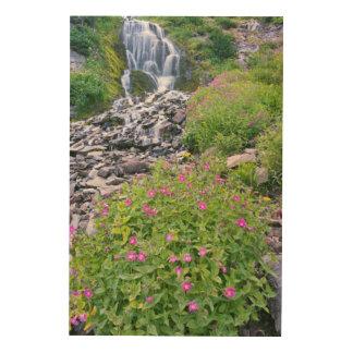 米国、オレゴンのcrater湖の国立公園 ウッドウォールアート