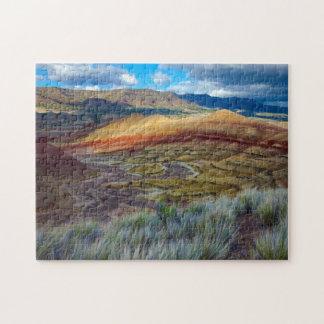 米国、オレゴン。 色彩の鮮やかな丘の景色 ジグソーパズル