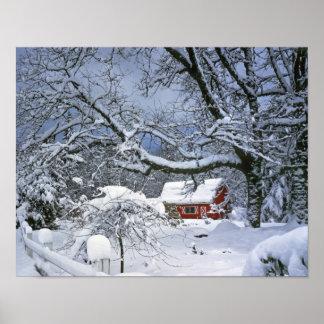 米国、オレゴン、Clackamas郡。 新しい雪 ポスター