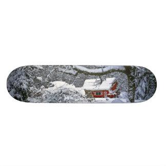米国、オレゴン、Clackamas郡。 新しい雪 18.7cm ミニスケートボードデッキ