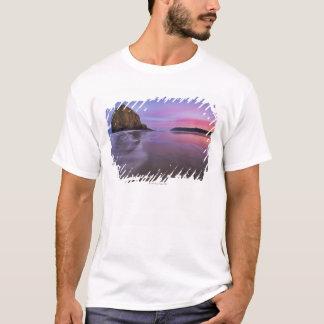 米国、オレゴン、Clatsop郡の三角波の石 Tシャツ