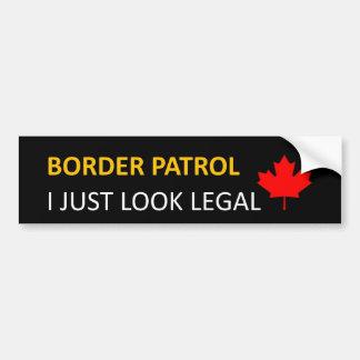 米国/カナダの国境巡視隊のバンパーステッカー バンパーステッカー