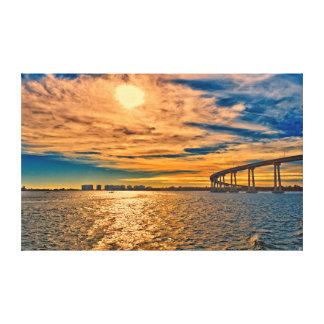 米国、カリフォルニアのサンディエゴCoronado湾橋 キャンバスプリント