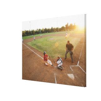 米国、カリフォルニアのLadera牧場、男の子(10-11) キャンバスプリント