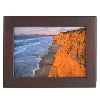 米国、カリフォルニアのPescaderoの州ビーチの崖 ジュエリーボックス