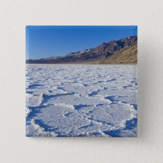 米国、カリフォルニア、デスヴァレーNPの塩の形成の 5.1CM 正方形バッジ