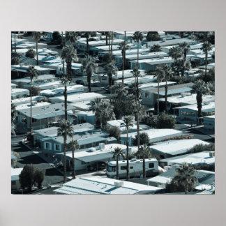 米国、カリフォルニア、パーム・スプリングス。 トレーラパーク ポスター