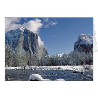 米国、カリフォルニア、ヨセミテNP。 Mercedの川、 カード