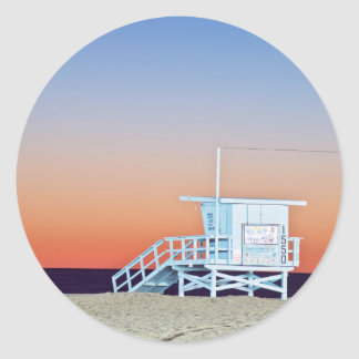 米国、カリフォルニア、ロサンゼルスのサンタモニカのビーチ ラウンドシール