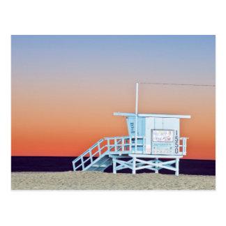 米国、カリフォルニア、ロサンゼルスのサンタモニカのビーチ 葉書き