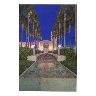 米国、カリフォルニア、ロサンゼルスの連合場所 ウッドウォールアート