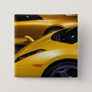 米国、カリフォルニア、ロサンゼルス: ロサンゼルスの自動車 5.1CM 正方形バッジ