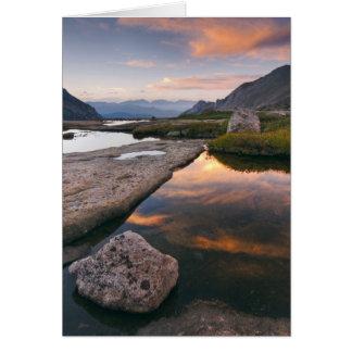 米国、コロラド州のロッキー山脈NP。  日の出 カード
