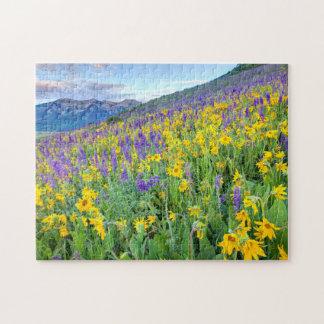 米国、コロラド州の頂点に達されたビュート。 景色 ジグソーパズル