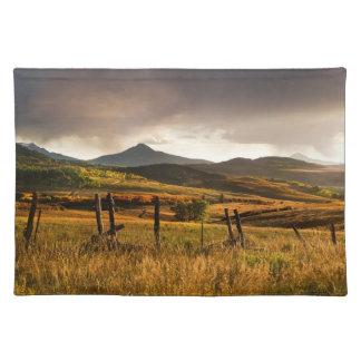 米国、コロラド州、サンファン山 ランチョンマット