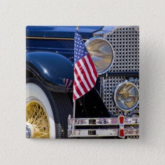 米国、コロラド州、Frisco。 ヴィンテージのPackardの自動車 5.1cm 正方形バッジ