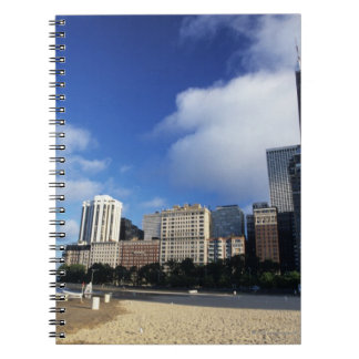 米国、シカゴ、イリノイのカシの通りのビーチ ノートブック