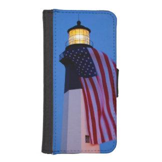 米国、ジョージアのTybeeの島、2つを飛ばす旗 iPhoneSE/5/5sウォレットケース