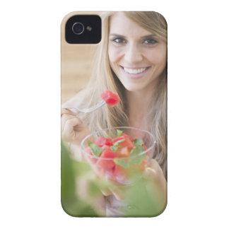 米国、ニュージャージー、ジャージーシティーの女性の食べ物 Case-Mate iPhone 4 ケース